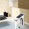 Digital Bathroom Thermostatic Shower Faucet Thermostat Temperature Flow Control LCD Touch Screen Smart Basin Tap Digital