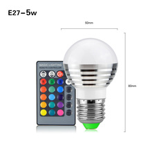 1PCS E27 E14 GU10 Magic RGB LED Bulb Light AC 110V-220V Dimmable 3W 5W 7W 10W Holiday Atmosphere Spotlight Lamp(China (Mainland))