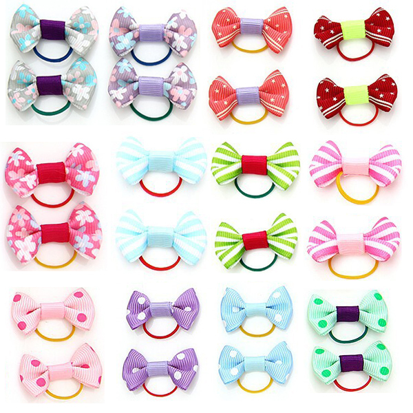 Pet Products Dog Grooming Bows Dog Hair Accessories Pet Hair Tie Dog Bow Clips, wholesale 100 pieces(China (Mainland))
