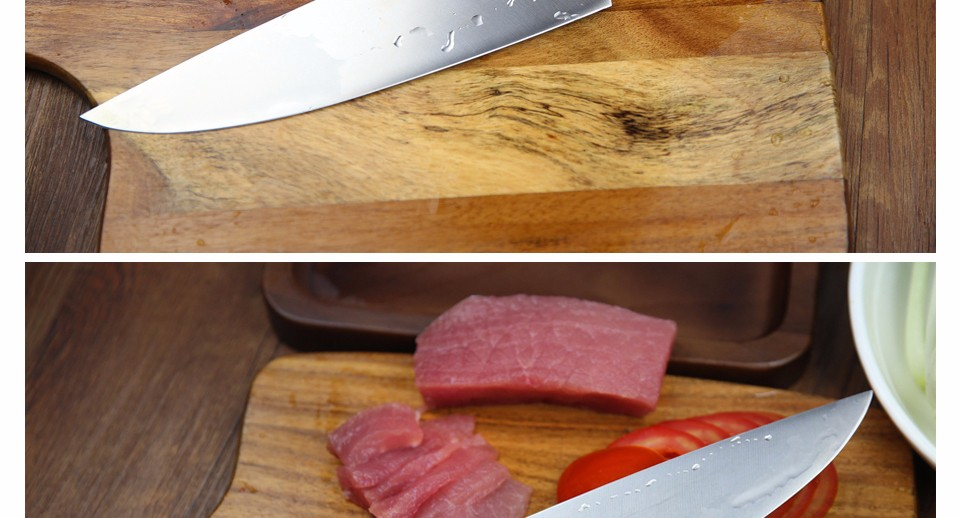 Buy XINZUO NEW 8 inch chef knife Germany steel kitchen knife cleaver knife vegetable/melon knife rosewood kitchen tool free shiping cheap