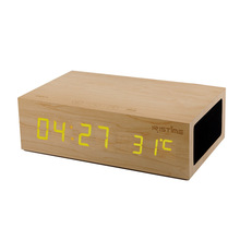 2015 new wooden W1 with NFC Handsfree Bluetooth speaker stereo alarm clock creative mini stereo wholesale