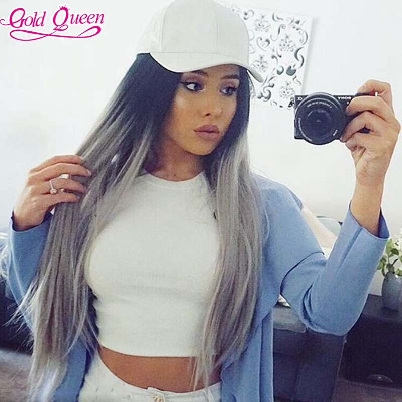 brazilian hair ombre grey color full lace wig long middle part lace front wig ombre virgin brazilian hair wigs with baby hair<br><br>Aliexpress