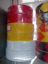 (6 Roll/LOT) Wholesale glisten  Lattice Reflective Tape yellow red white Adhesive Hazard Warning Tape 50m/roll(China (Mainland))