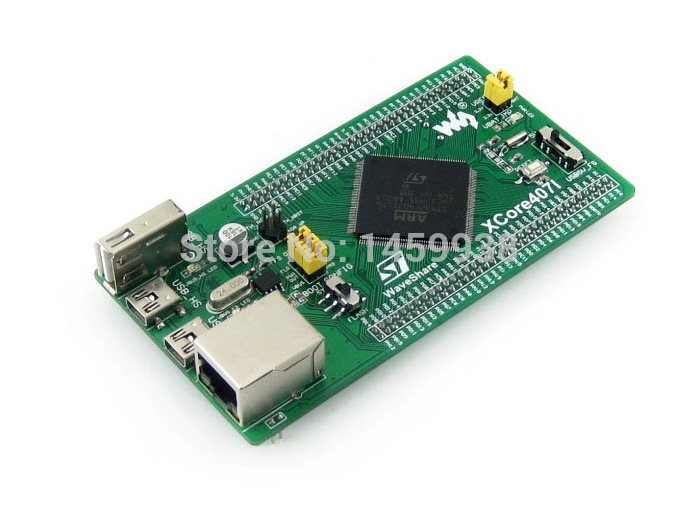 STM32 Board STM32F407IGT6 MCU core board, with IOs, USB, Ethernet, NandFlash Cortex-M4 STM32 Development Board = XCore407I(China (Mainland))