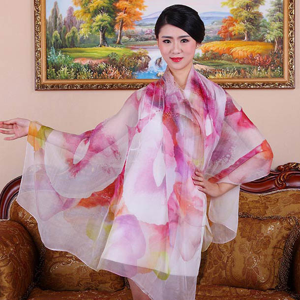 180x110CM 2016 100% silk scarf wrap for Women oversized fashion floral design brand scarves Summer sun protection Beach shawl(China (Mainland))