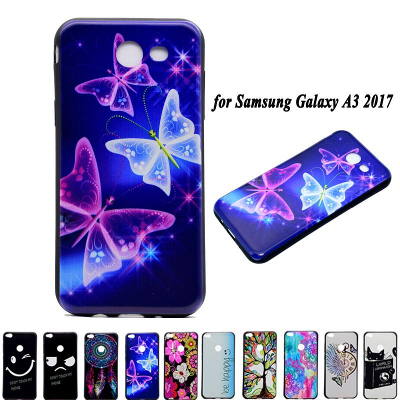 Cases Samsung Galaxy A3 2017 A320F Case Luxury Soft Silicone TPU Case Back Cover 3D Cartoon Coque Samsung Galaxy A3 2017