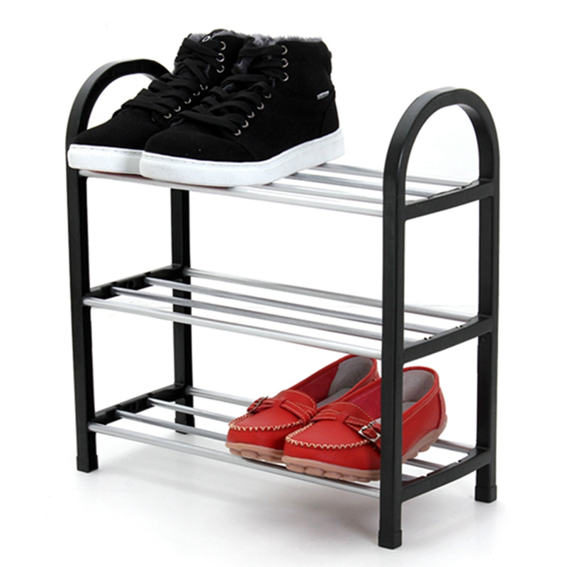Silver 3 Tier Plastic Shoe Rack Shoe Cabinet Storage Organizer Stand Shelf  Holder Unit Home Furniture