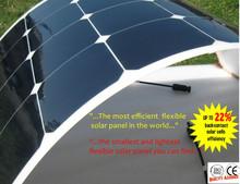 100W Watt 12V Volt Semi-flexible solar panel with solar controller and solar cable  22% Efficiency PV Cell Mono Solar Panel
