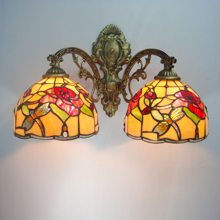 Tiffany Double Wall Lights : Tiffany glass wall lamp bedside lamp lighting special double aisle lights balcony lamp mirror ...