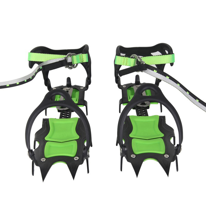 Travel Kits skiing slippers BRS-S1A Fourteen Teeth Bundled Crampons Professional Ice Gripper H1E1(China (Mainland))