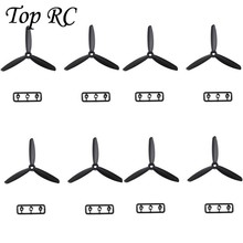 4 Pair Three Blades Propeller CWCCW Black 4045 For QAV250 280 RC Quadcopter Drone Spare Part Helicopter Accessories High Quality