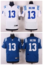 Indianapolis Colts #13 T.Y. Hilton Elite White and Royal Blue Team Color free shipping(China (Mainland))