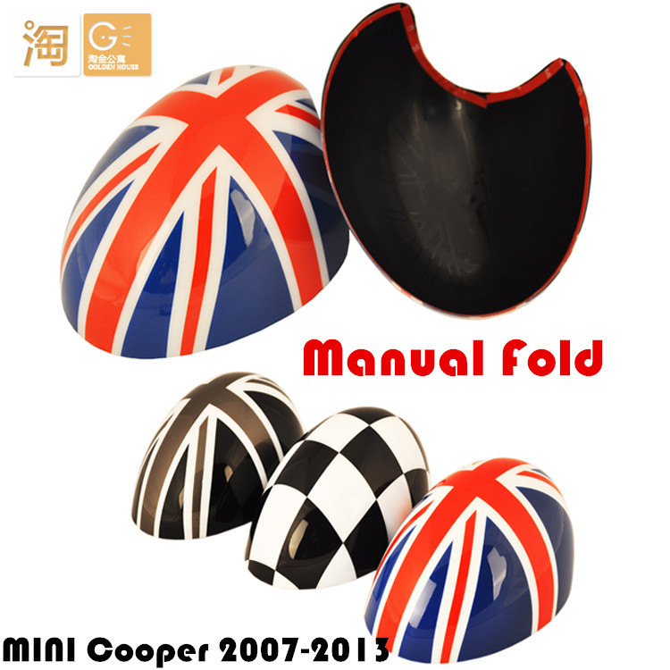 Фотография Manual Fold for MINI Cooper side rear view mirror Union jack Cover for R55 R56 R57 R58 R59 R60 R61