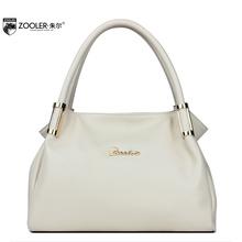 Women Real Cowhide Genuine Leather Handbag Brand Fashion Female Soft Solid Tote Vintage Luxury Classic Shoulder