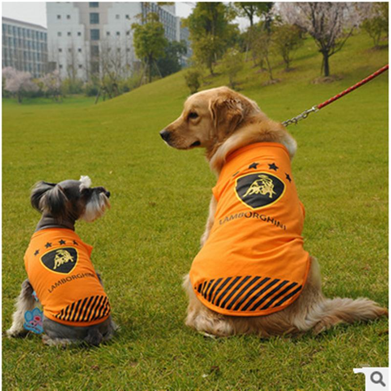 New Spring and Summer 2016 dog clothes, luxury cars vest large dogs golden Satsuma large dog vest, pet vestropa perro,T- shirt(China (Mainland))