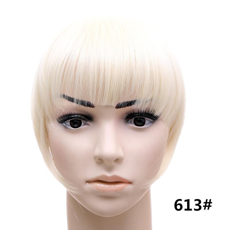 Jeedou короткий передний аккуратный челка клип короткая заколка для волос прямые 613#.1_