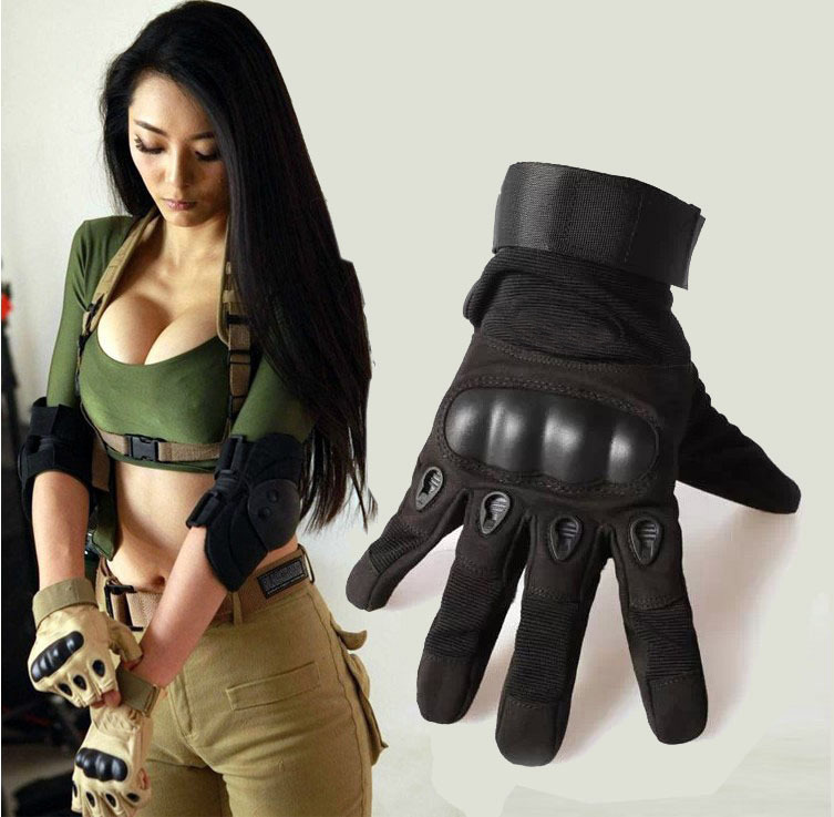 2015 Sale Us Army Tactical Gloves Outdoor Sports Full Finger Combat Motocycle Slip resistant Carbon Fiber