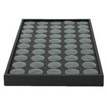 50 Pots Nail Art Manicure Empty Transparent Box Glitter Dust Powder Jewelry Display Boxes Cases Decorations Storage Plate Tool(China (Mainland))