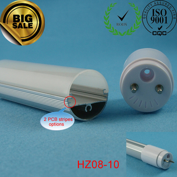 T8 led light accessories with pc cover and lamp holders