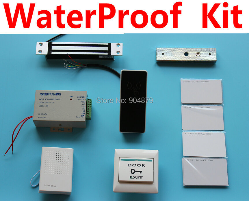 OUTDOOR USE WaterProof Free Shipping Best Price RFID Access Controller Supporting Door Lock System DIY Kit Proximity card reade(China (Mainland))