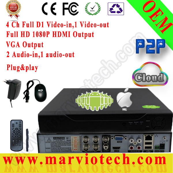 4 ch HDMI HD VGA H.264 Full D1 RS485 PTZ Camera Phone Monitor Network Motion Detection Security Standalone CCTV DVR Recorder<br><br>Aliexpress
