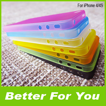 200pcs/l Super Ultra thin 0.3 MM Transparent Clear Matte Plastic Hard Back Case Cover iPhone 4 4G 4S,DHL - Better For You store