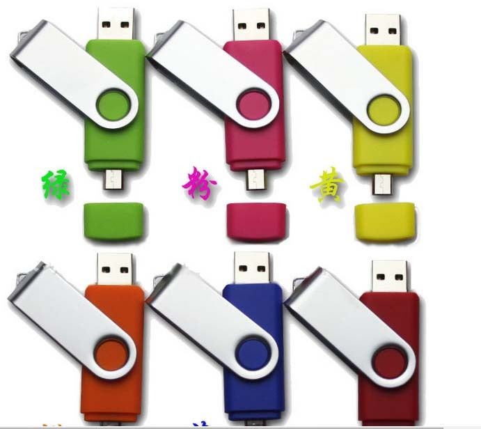 free shipping 2016 cheap plastic swivel Clip micro usb otg flash drive for android phones(China (Mainland))