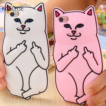Buy KISSCASE 3D Cartoon Cat Case For iPhone 6 6s 5 5s SE Case Lovely Cute Soft Silicon Phone Cases For iPhone 6 6s 7 Plus Back Cover for $3.40 in AliExpress store