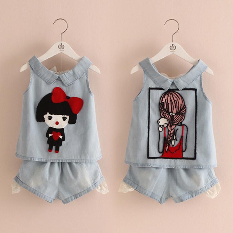 Baby boy clothes summer style family clothing set denim