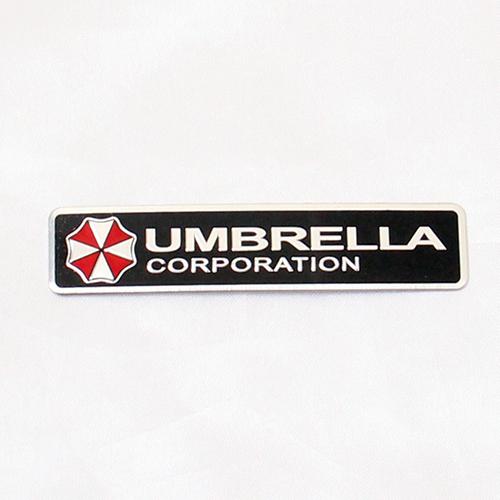 3D Car Stickers Aluminum Umbrella Corporation Resident Evil Decals Emblem For Porsche Cayenne Macan Macan S Panamera Cayman(China (Mainland))