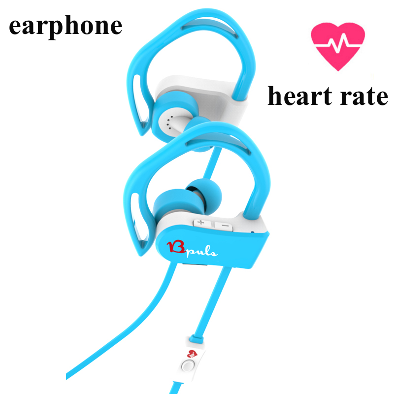 Heart rate earphone SPORT PULSE Wireless Bluetooth Stereo Earbuds with Built-In Heart Rate Monitor(China (Mainland))