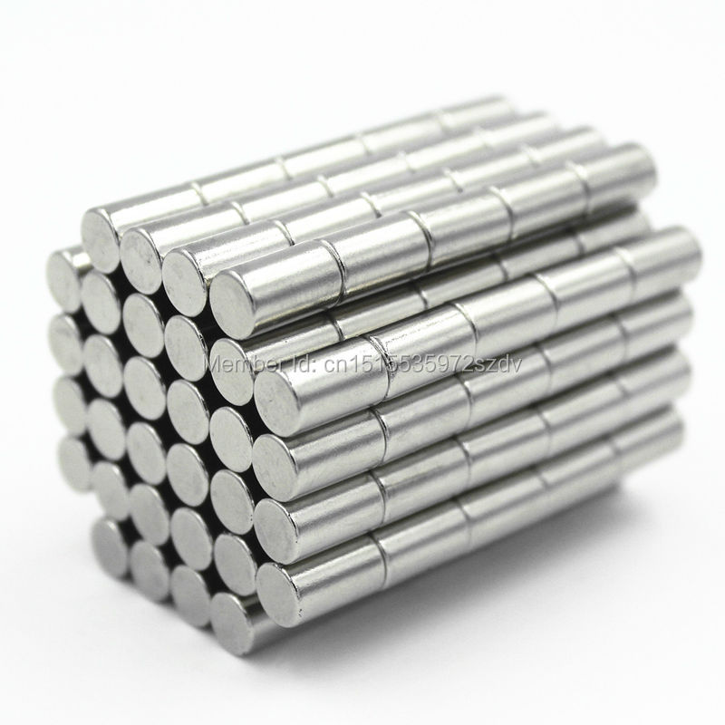 1000pcs Strong Round Dia  5mm x 8mm N35 Rare Earth Neodymium Magnet Art Craft Fridge free shipping<br>