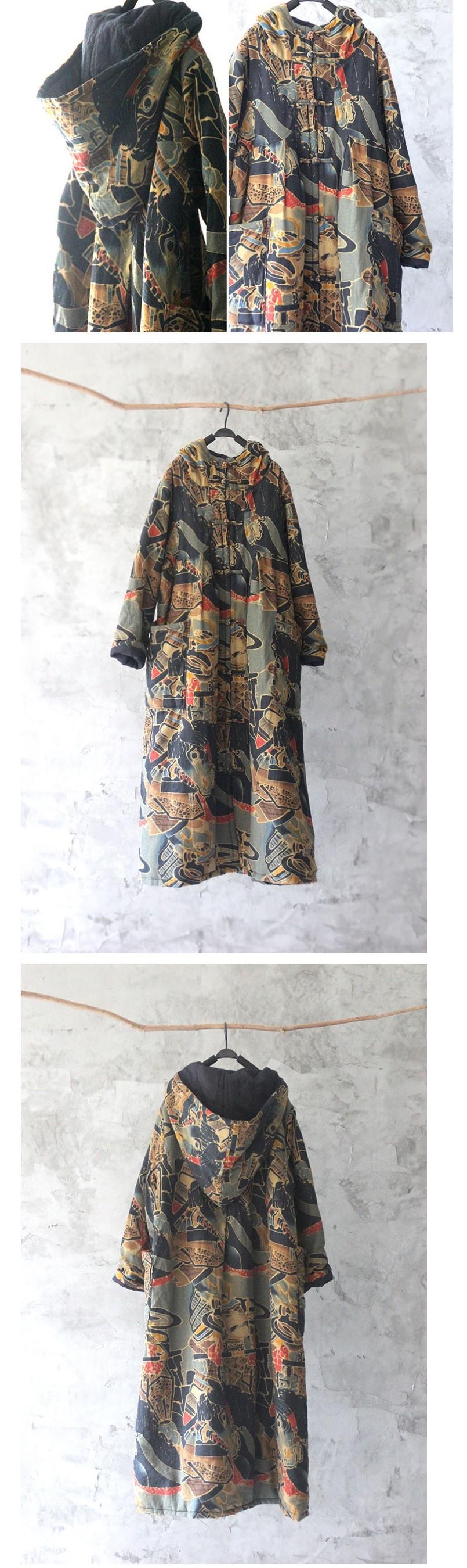 Скидки на Зимой 2016 новые продукты, высокого класса свободные большие ярдов вельвет женская оригинальный дизайн длинные хлопка мягкой одежды