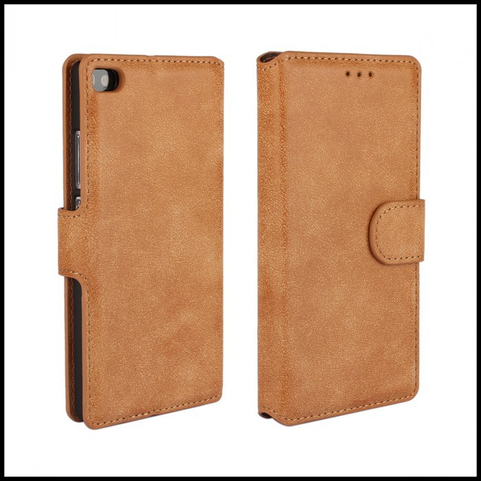 Phone Wallet Case For Huawei Ascend P8 Protective Cover Matt PU Leather Stand Accessory For Huawei Ascend P8 Mobile Bag(China (Mainland))