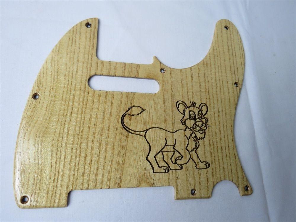1pcs carved ailanthus wood Telecaster Guitar Tele Pickguard #2292(China (Mainland))