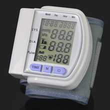 1PCS Top Quality Home Automatic Digital Arm Blood Pressure Monitor With Lcd Display & Heart Beat Meter Device(China (Mainland))