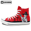 Red Original Converse All Star Men Women Shoes Zombies Walking Dead Custom Design Sneakers Hand Painted