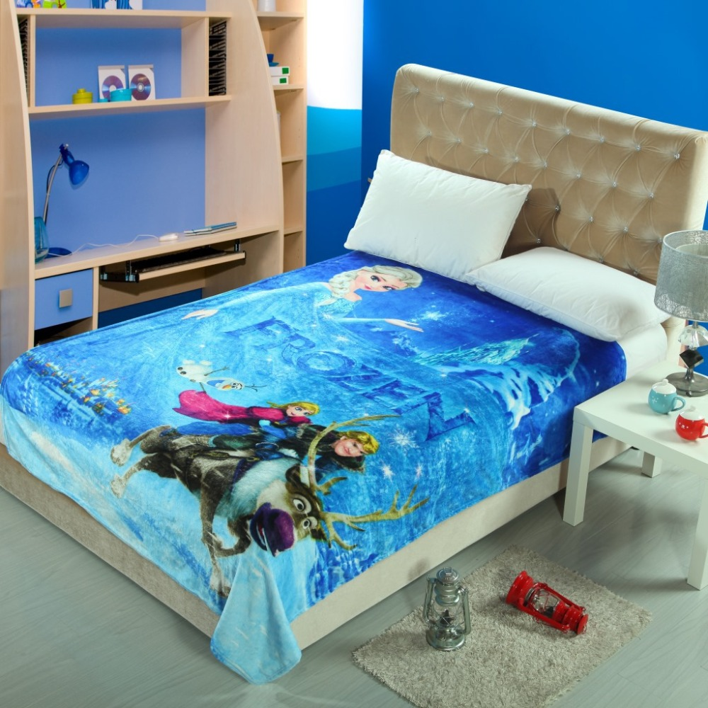 American Children Soft Blanket blue frozen Kids Blankets Fleece Blanket Sofa Bed Plane Travel Plaids(China (Mainland))