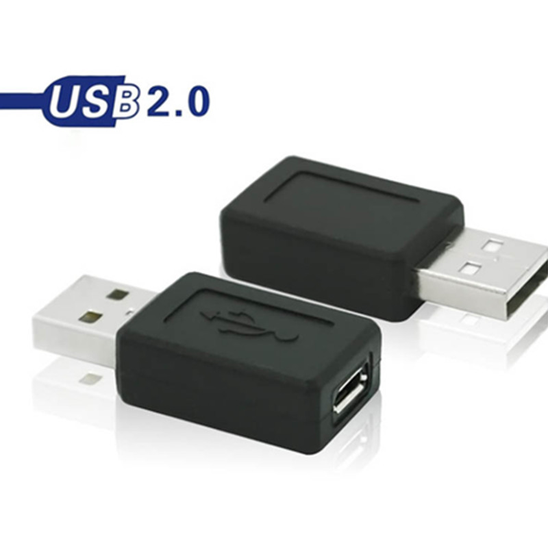 1 Pcs New 3.8cm Usb 2.0 Male To Micro Usb Female Connector Micro Usb Jack Converter Adapter(China (Mainland))