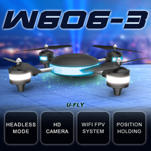 HJW606-3 Drone 2016 4D Roll 2.4G 7.4V WIFI 2MP FPV RC Model Plane Aerial Quadrocopter with LED Light