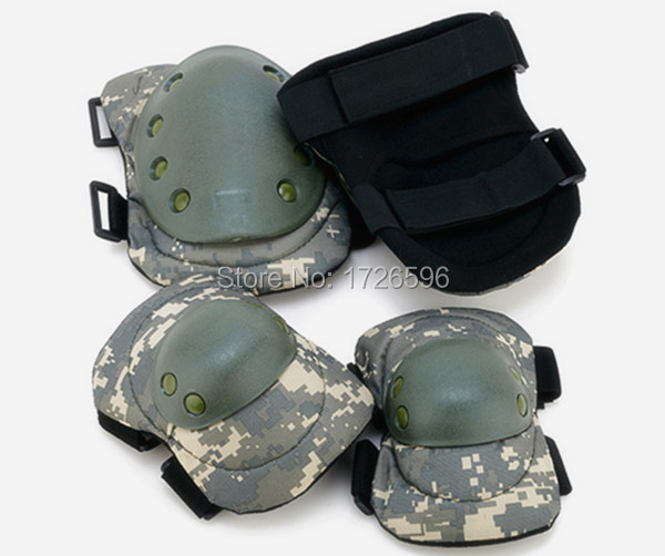 Airsoft Hunting Knee & Elbow Protective Pads Set Tactical Gear Sports Pads Camouflage(China (Mainland))