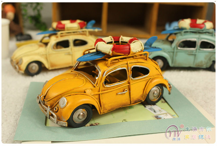 Handmade Metal Car model Classic Beetle with Swimming laps multi color Decoration Children's toys Manual Crafts Gift(China (Mainland))