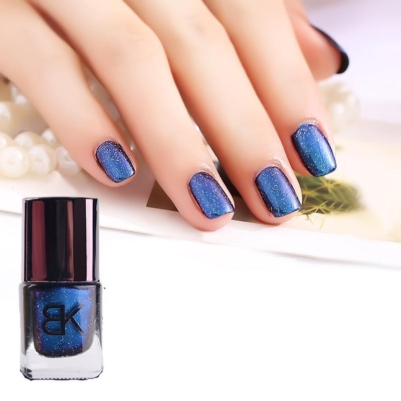 BK Professional Nail Art The starry sky phantom Color change nail polish Imported laser powder Persistent Shining star nail