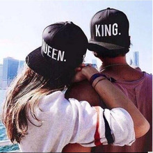 Fashion KING QUEEN Hip Hop Baseball Caps Embroider Letter Couples Lovers Adjustable Snapback Sun Hats for Men Women BZ981562(China (Mainland))