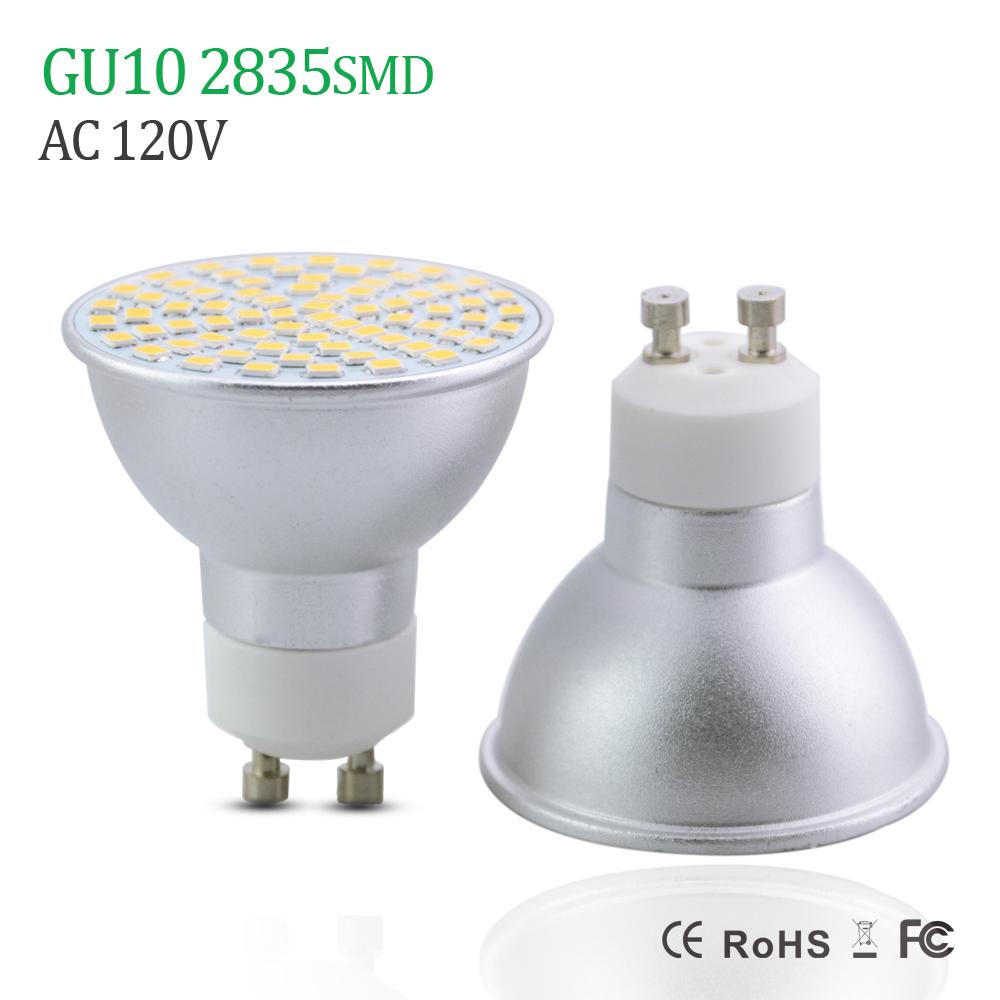New Updated LED Spotlight GU10 Lamp 3w 5w 7w 110V 120V Aluminum Body 2835 SMD 60LEDs 70Leds 80Leds GU10 LED Bulbs lighting(China (Mainland))