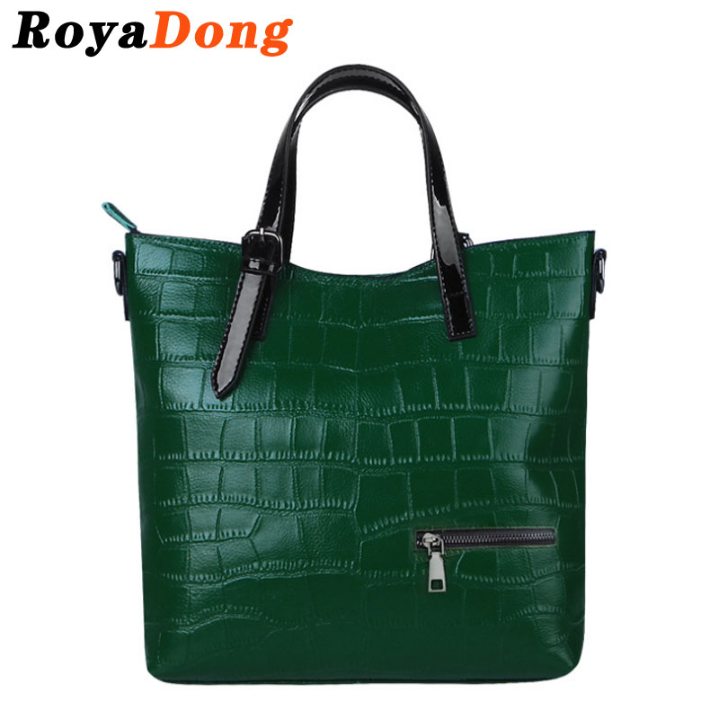 RoyaDong Brand 2016 New Womens Handbags Genuine Leather Bag Fashion Serpentine Crossbody Shoulder Bags Casual Tote Bolsa Femini<br><br>Aliexpress