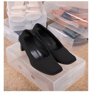 Female Shoes Storage Boxes Folding transparent fashion shoe rack shoe shelf wholesale