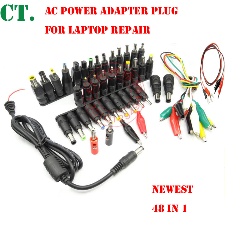48 1pair Universal Laptop AC DC Jack Power Supply Adapter Connector Plug for HP IBM Dell Apple Lenovo Acer Toshiba Notebook(China (Mainland))