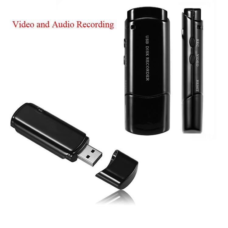 New Arrival Mini USB Disk DVR Super Voice Recorder With Camera Audio&Video Recording USB Flash Drive Black/White Color Pen Drive()