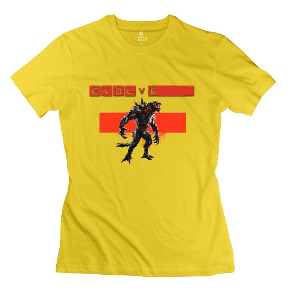 2015 Crazy Evolve Logo Women t-shirt Modern Short Sleeve 100% Cotton Women's T Shirts at Factory Price(China (Mainland))
